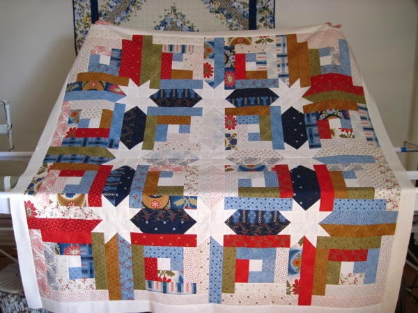Log Cabin Hidden Stars Quilting Linda