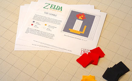 Zelda: The Quilt-Along -- The Candle (Block 1)