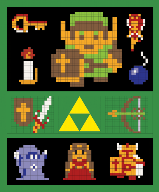 Sketch of The Zelda Quilt-Along